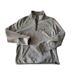 LL BEAN Men's Snap T Heather Grey Pullover Hiking